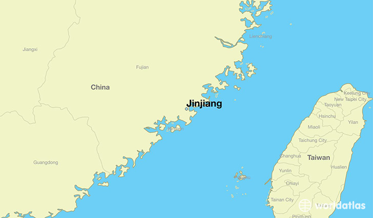 map showing the location of Jinjiang