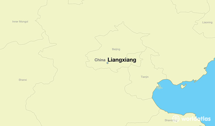 map showing the location of Liangxiang