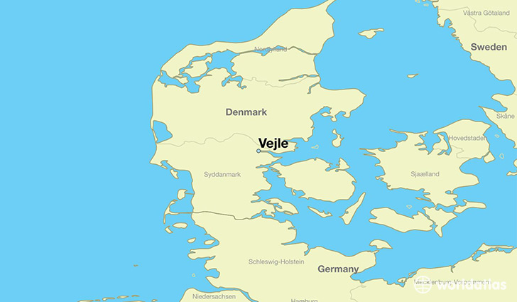 map showing the location of Vejle
