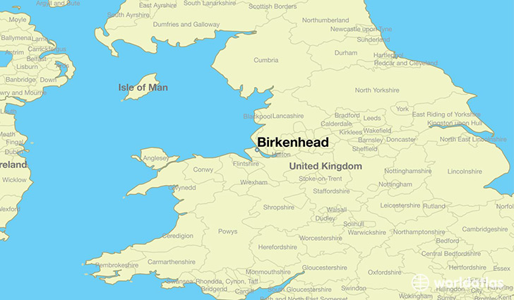 map showing the location of Birkenhead