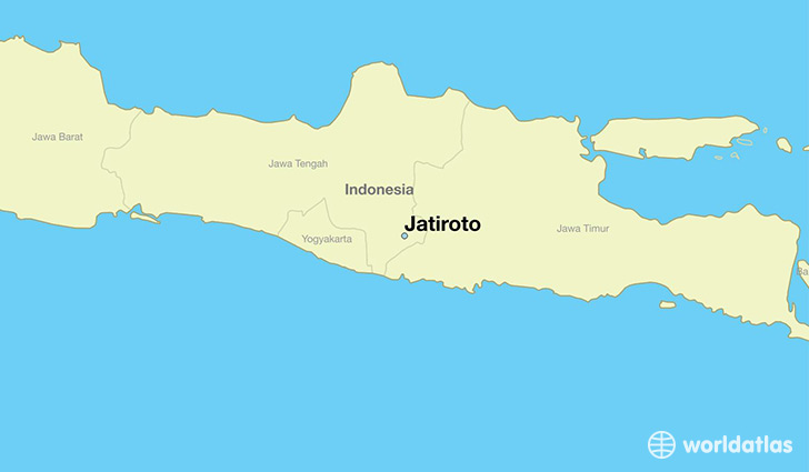 map showing the location of Jatiroto