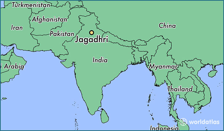 map showing the location of Jagadhri
