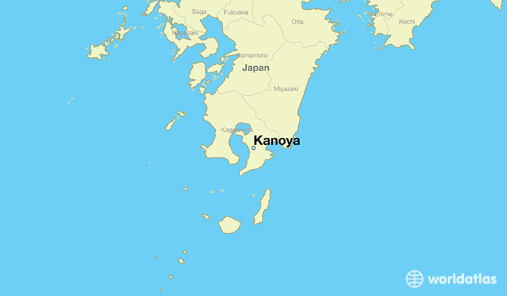 map showing the location of Kanoya
