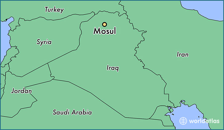 Where is Mosul Iraq Mosul Ninawa Map WorldAtlascom