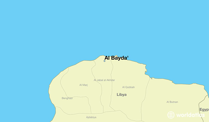 map showing the location of Al Bayda'