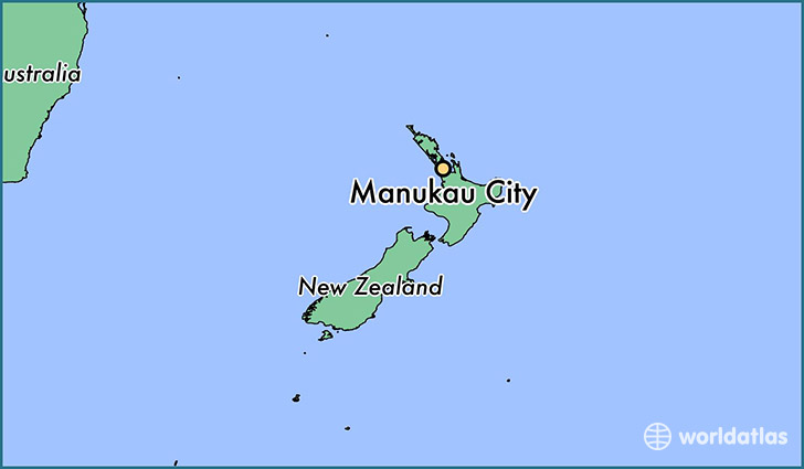 map showing the location of Manukau City