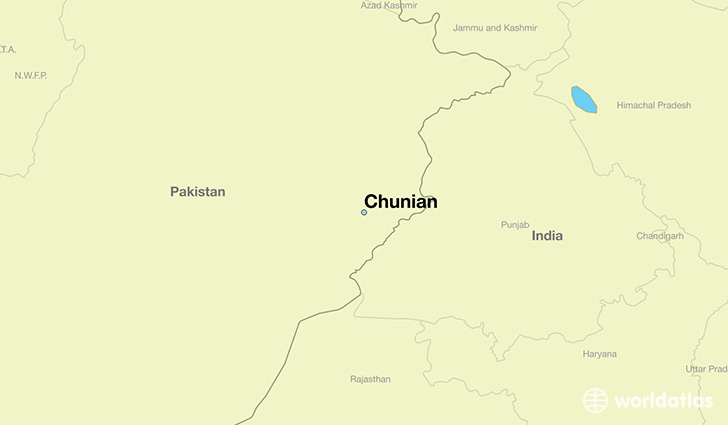 map showing the location of Chunian