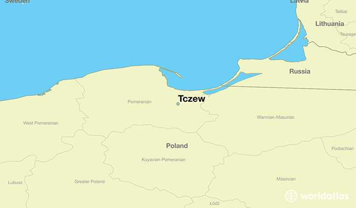 map showing the location of Tczew