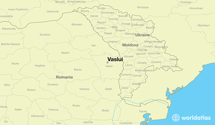 map showing the location of Vaslui