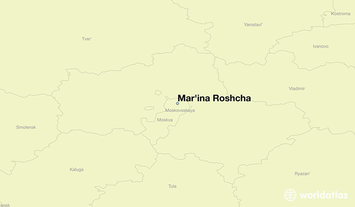 map showing the location of Mar'ina Roshcha