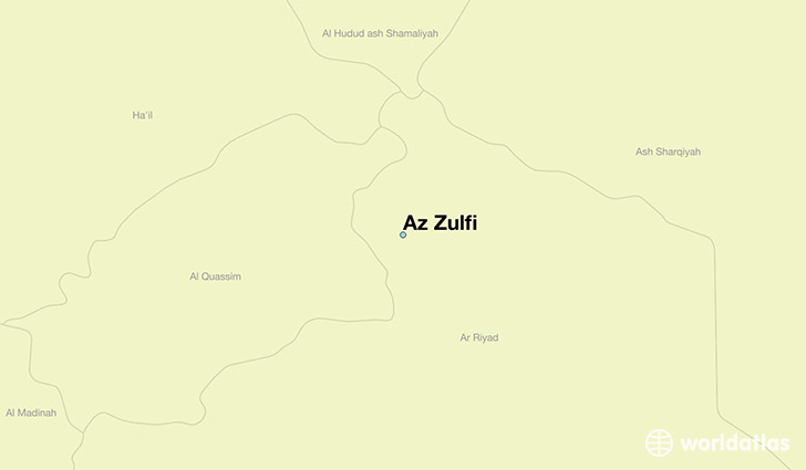 map showing the location of Az Zulfi