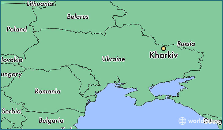 map showing the location of Kharkiv