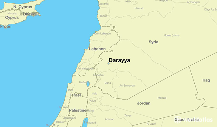 map showing the location of Darayya