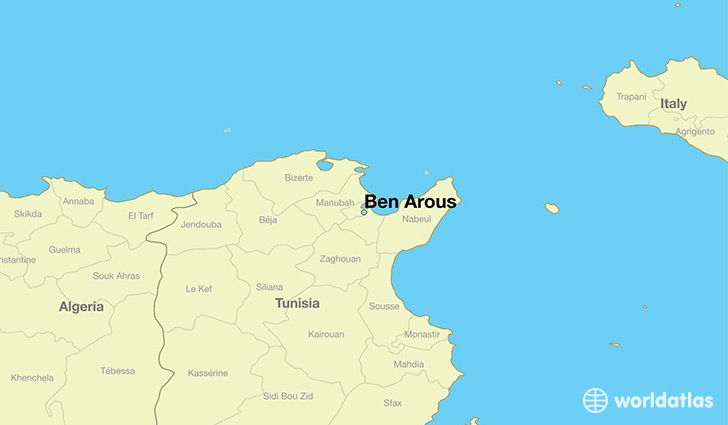 map showing the location of Ben Arous