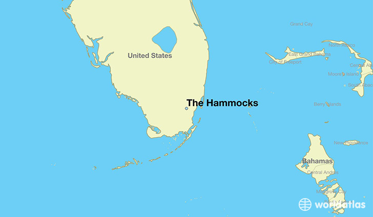 map showing the location of The Hammocks