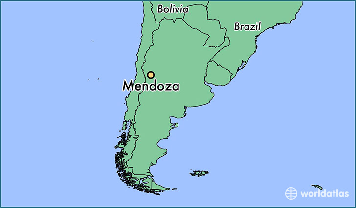 map showing the location of Mendoza