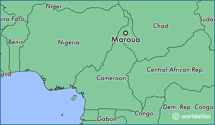 map showing the location of Maroua