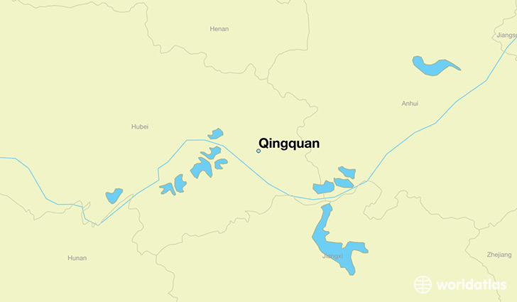 map showing the location of Qingquan