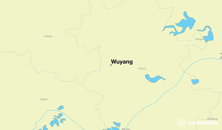 map showing the location of Wuyang