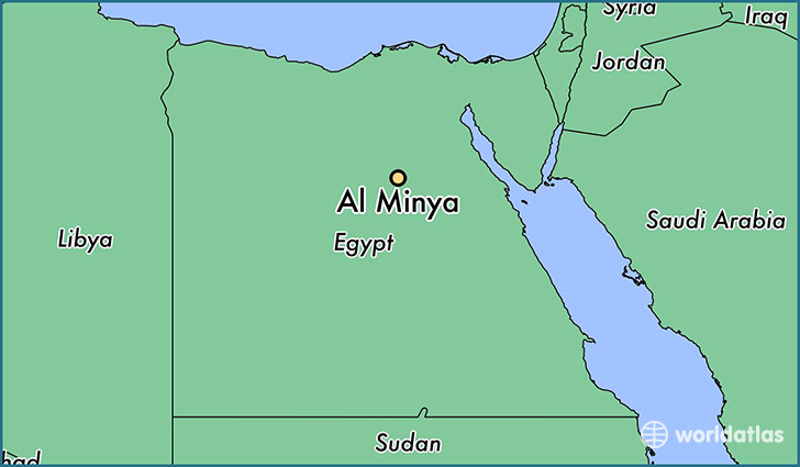 map showing the location of Al Minya