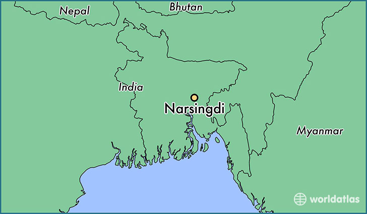 map showing the location of Narsingdi