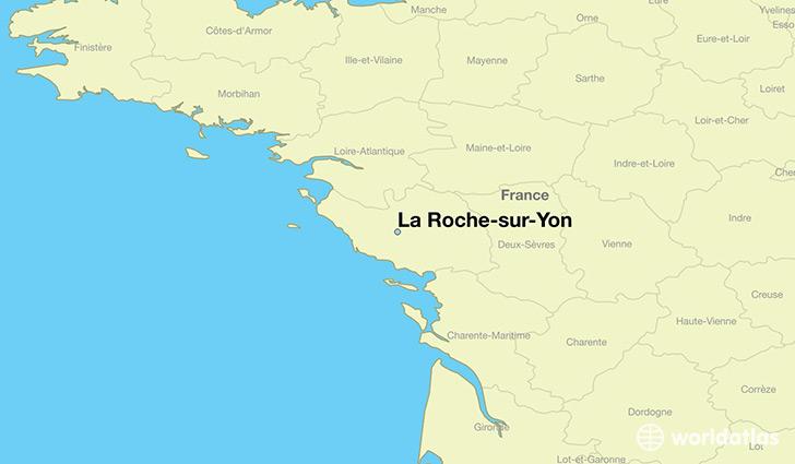 where is la roche sur yon france la roche sur yon. Black Bedroom Furniture Sets. Home Design Ideas