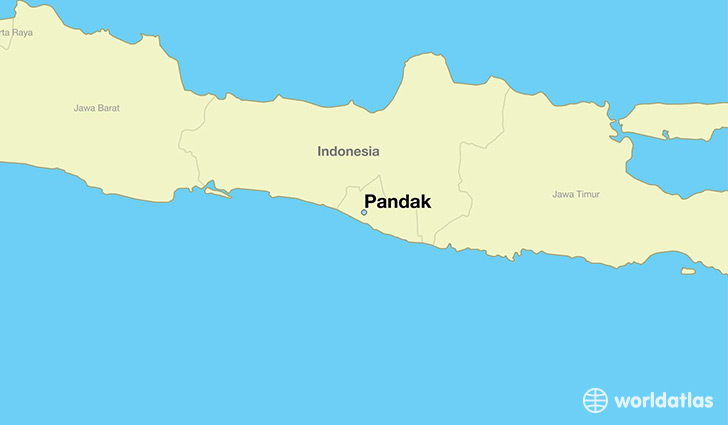 map showing the location of Pandak