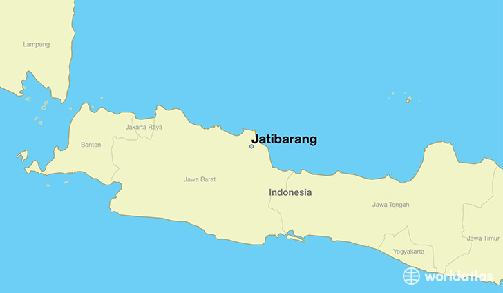 map showing the location of Jatibarang