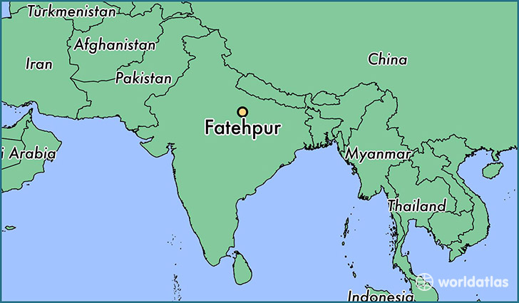 map showing the location of Fatehpur
