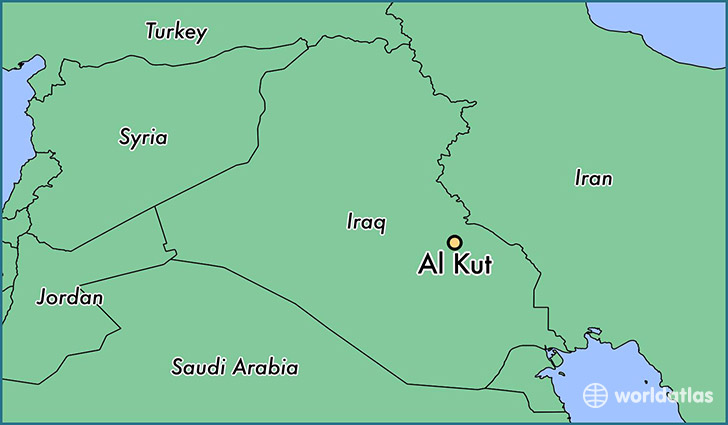 map showing the location of Al Kut
