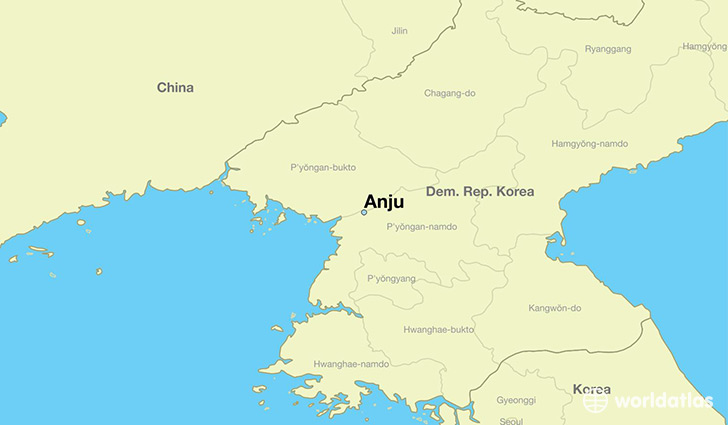 map showing the location of Anju
