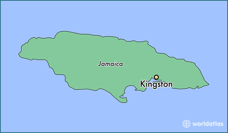 map showing the location of Kingston