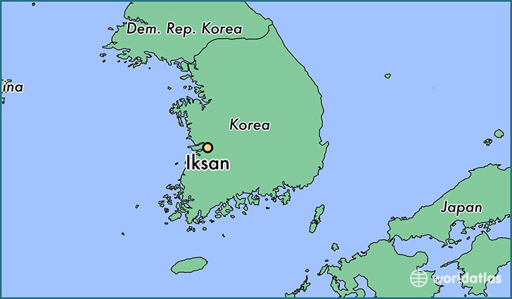 map showing the location of Iksan