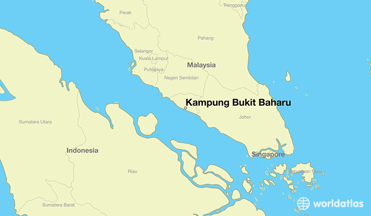 map showing the location of Kampung Bukit Baharu
