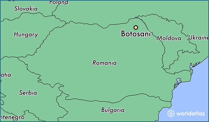 map showing the location of Botosani