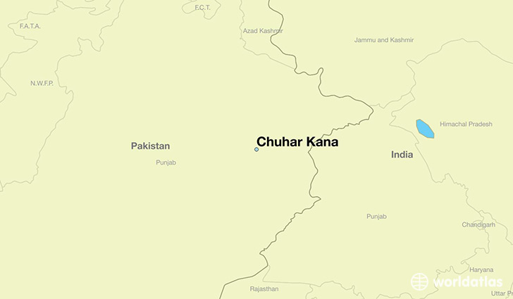 map showing the location of Chuhar Kana