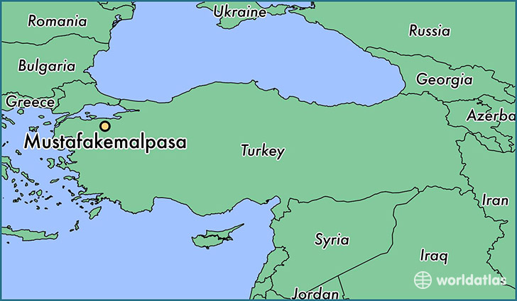 map showing the location of Mustafakemalpasa