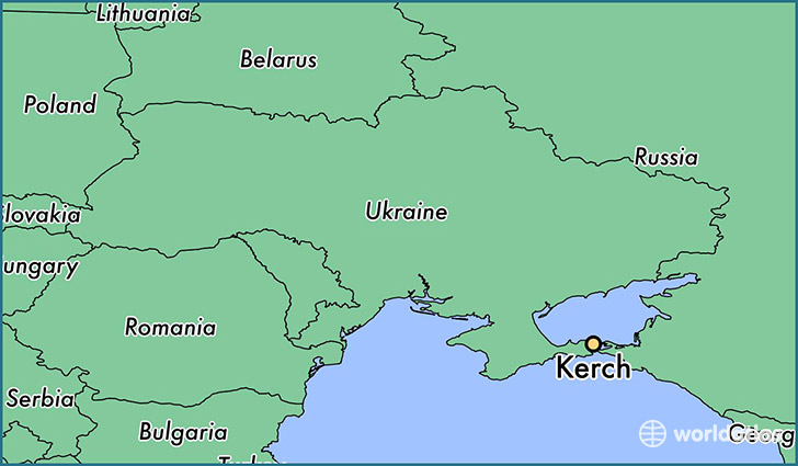 map showing the location of Kerch