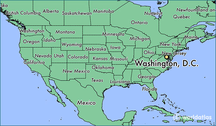Where Is Washington DC DC Where Is Washington DC DC - Us map showing washington dc