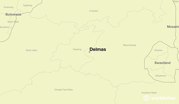 map showing the location of Delmas