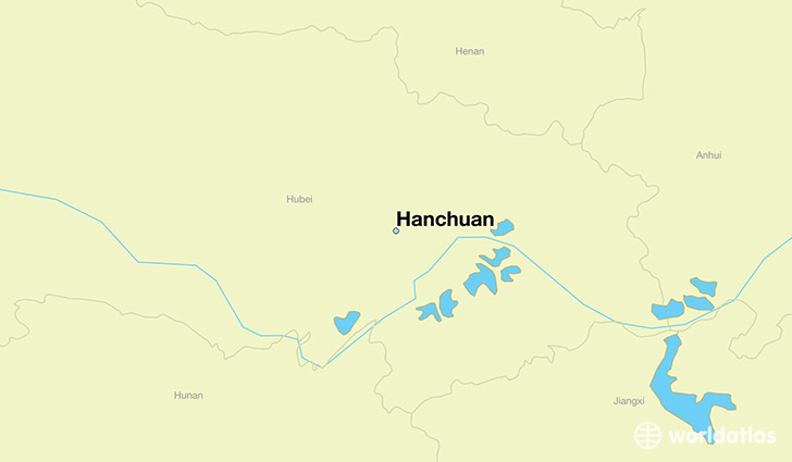 map showing the location of Hanchuan