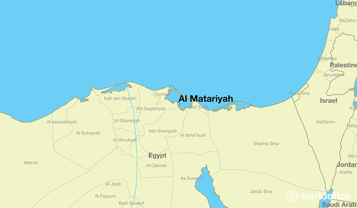map showing the location of Al Matariyah