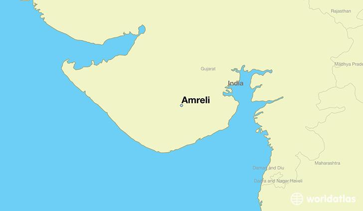 map showing the location of Amreli