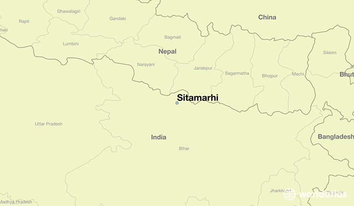 map showing the location of Sitamarhi