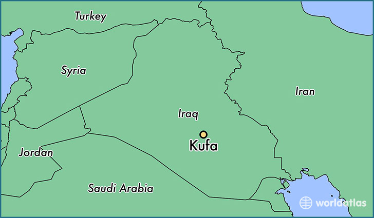 map showing the location of Kufa