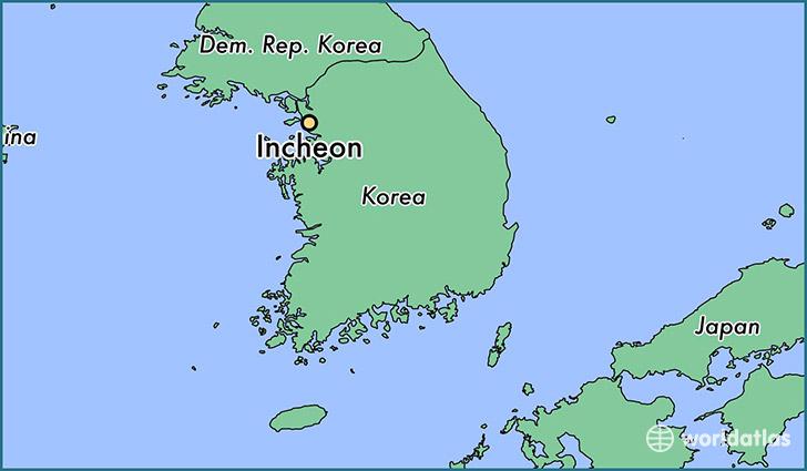 Where is Incheon South Korea  Where is Incheon South Korea