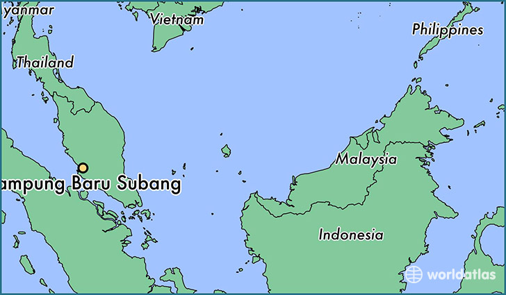 map showing the location of Kampung Baru Subang