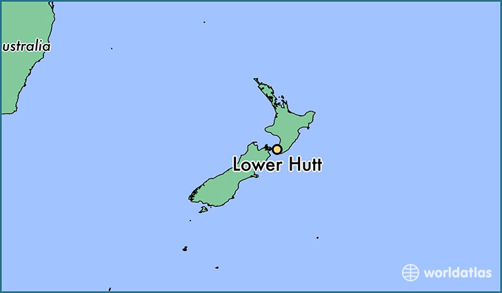map showing the location of Lower Hutt
