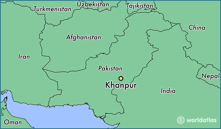 map showing the location of Khanpur
