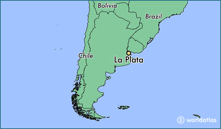 map showing the location of La Plata